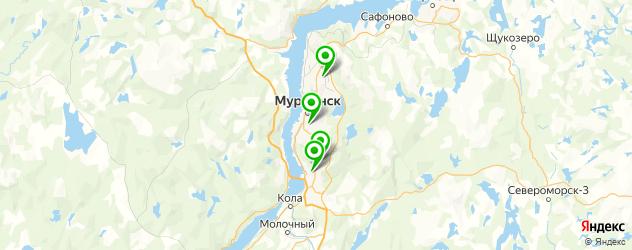 ночные клубы на карте Мурманска