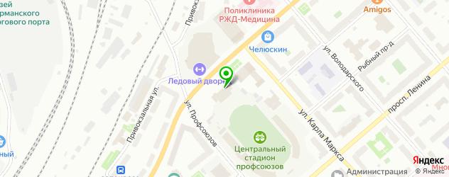 стадионы на карте Мурманска