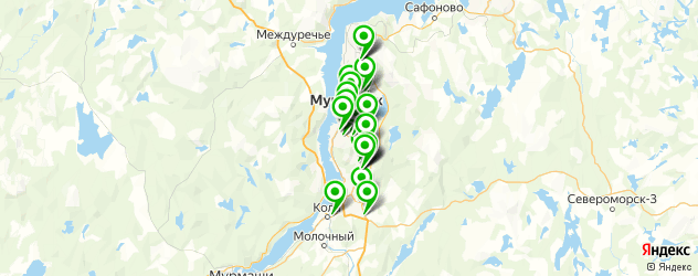 кафе на карте Мурманска