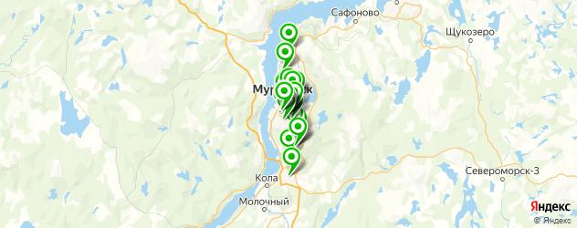 банкоматы с функцией приема наличных на карте Мурманска