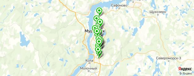 бесплатный Wi-Fi на карте Мурманска