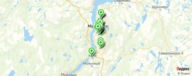 обменные пункты на карте Мурманска