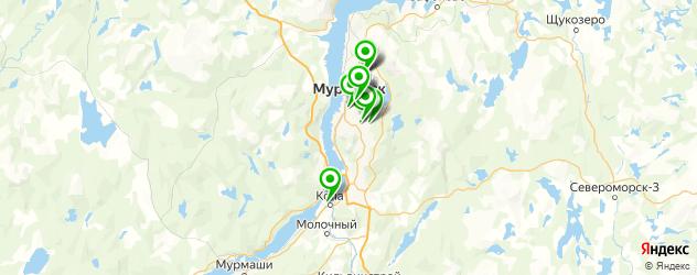 больницы на карте Мурманска