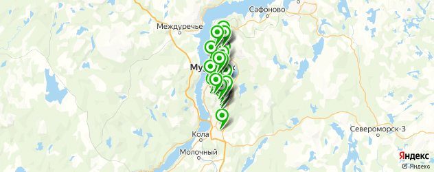 автомойки на карте Мурманска
