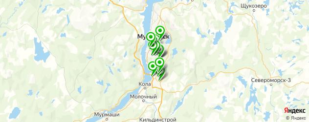 автоматическая мойка на карте Мурманска