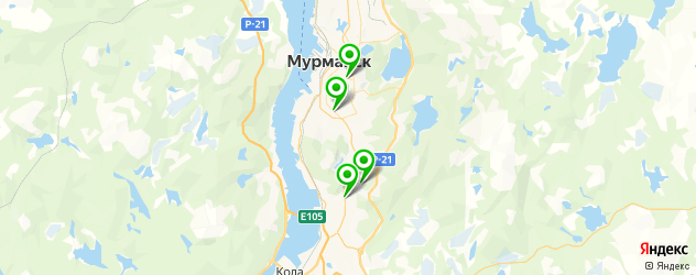 детские развлекательные центры на карте Мурманска