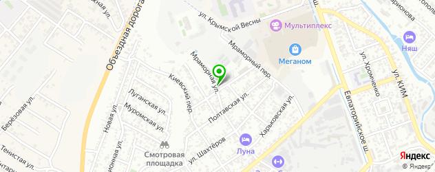 Запчасти ГАЗ на карте Симферополя