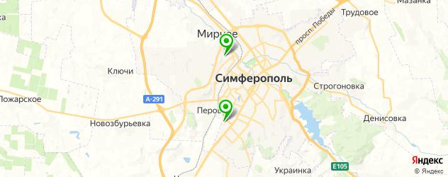 сервисы Тойота на карте Симферополя
