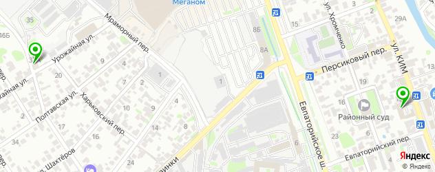 Запчасти SsangYong на карте Симферополя
