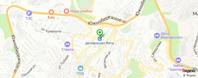 экскурсии на карте Ялты