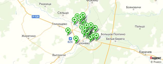 отделения Почты России на карте Брянска