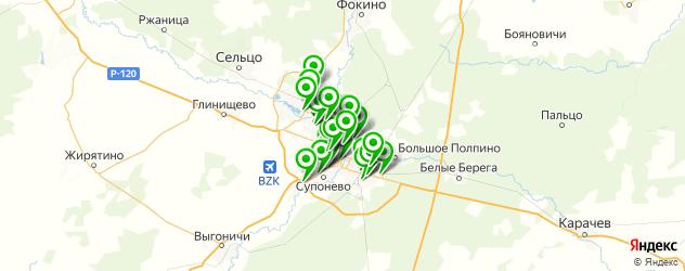 автомойки на карте Брянска