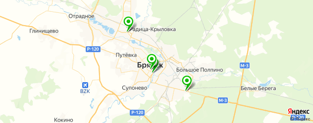 букмекерские конторы на карте Брянска