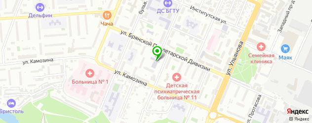 картинные галереи на карте Брянска