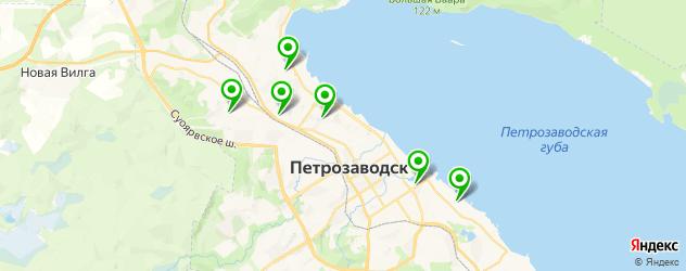 эвакуаторы на карте Петрозаводска