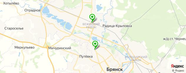 рестораны с детской комнатой на карте Брянска