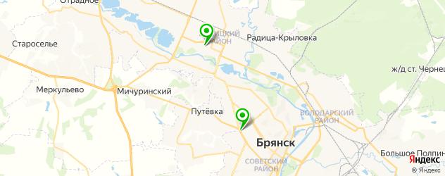 детские развлекательные центры на карте Брянска