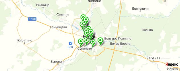 рестораны на карте Брянска