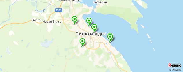 спортивные клубы на карте Петрозаводска