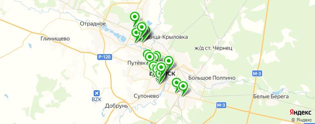 парикмахерские на карте Брянска