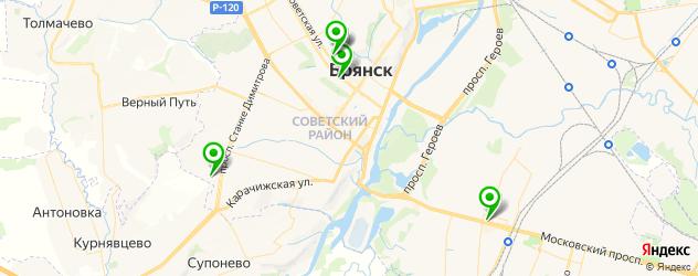 детские поликлиники на карте Брянска