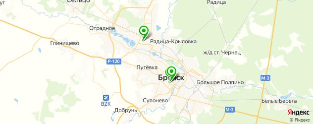 велнесы-клубы на карте Брянска