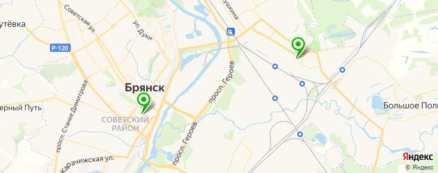 курсы творчества на карте Брянска