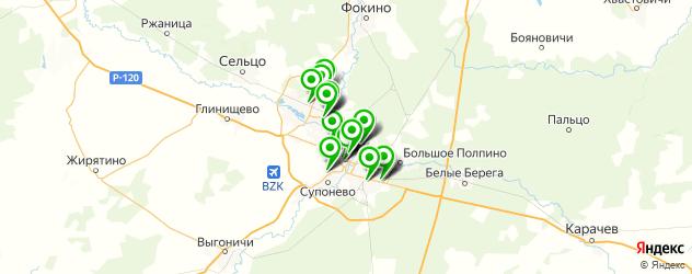 поликлиники на карте Брянска