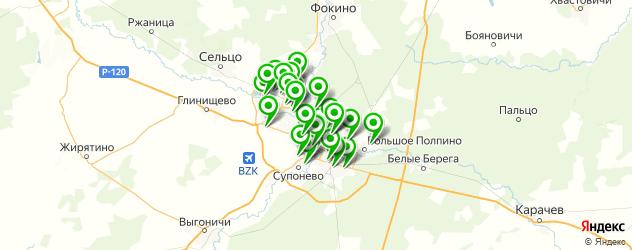 библиотеки на карте Брянска