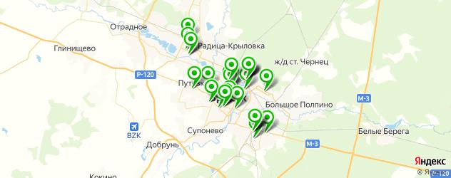 Спорт и фитнес на карте Брянска