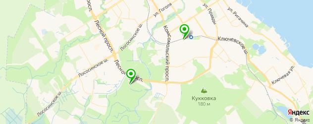 конные клубы на карте Петрозаводска