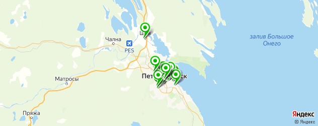 русские рестораны на карте Петрозаводска