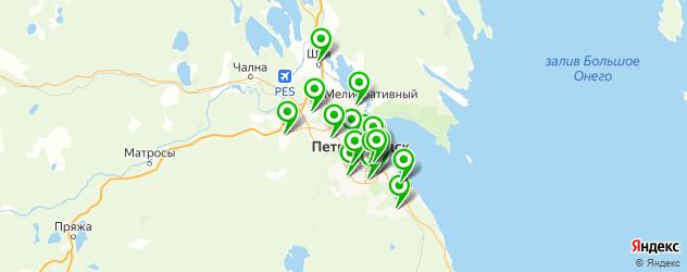 библиотеки на карте Петрозаводска