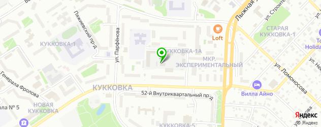 скалодромы на карте Петрозаводска