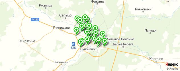АЗСЫ на карте Брянска