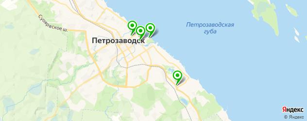 рестораны с детской комнатой на карте Петрозаводска