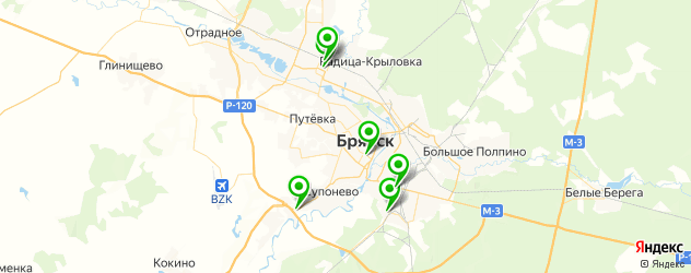 вегетарианские рестораны на карте Брянска