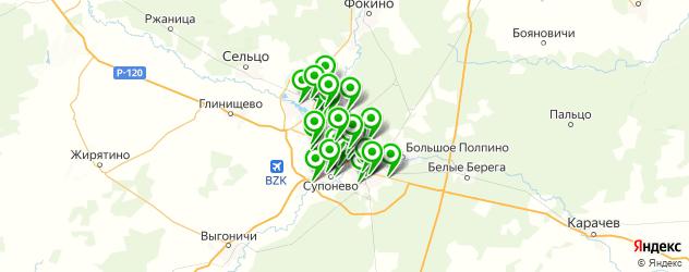 бани на карте Брянска