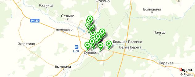 Развлечения на карте Брянска