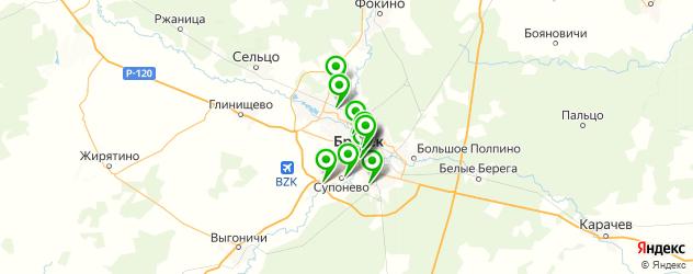 рестораны с танцполом на карте Брянска