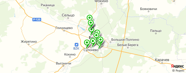 постные меню в ресторанах на карте Брянска