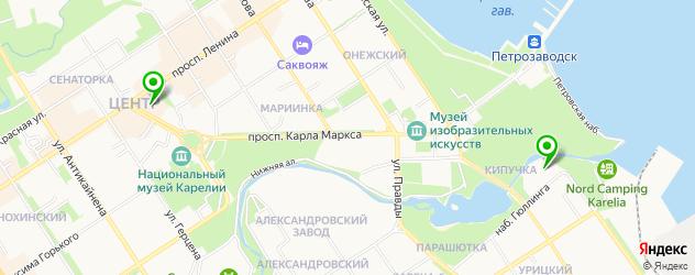 итальянские рестораны на карте Петрозаводска