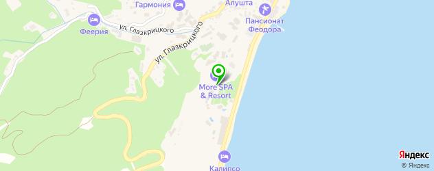 рестораны европейской кухни на карте Алушты