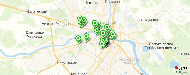 банки на карте Твери
