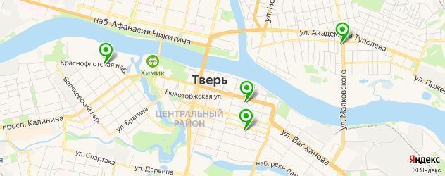картинные галереи на карте Твери