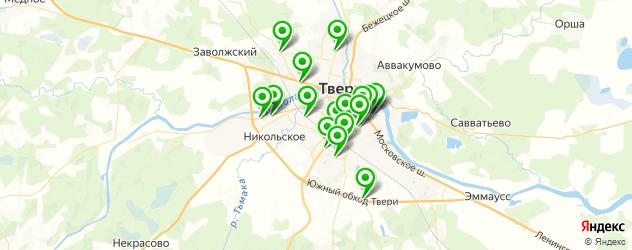 автостоянки на карте Твери