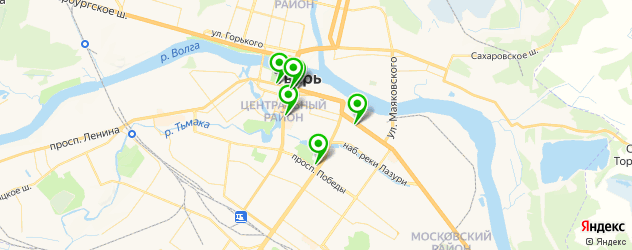 театры на карте Твери