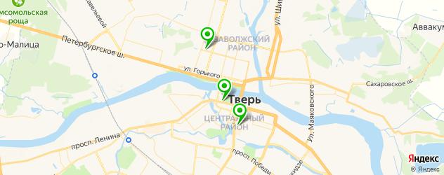 экскурсии на карте Твери