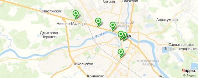 вегетарианские рестораны на карте Твери