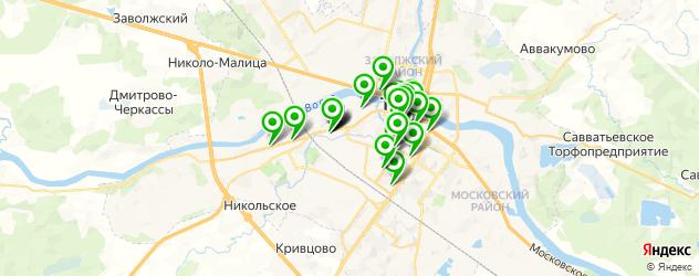 кофейни на карте Твери